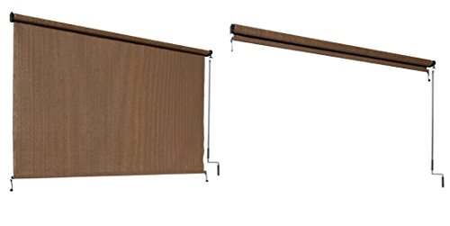 Coolaroo select exterior cordless roller shade 4ft x 6ft mocha home garden decor window Cordless exterior sun shades