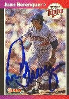 Juan Berenguer Minnesota Twins 1989 Donruss Autographed Hand Signed Trading Card. by Hall+of+Fame+Memorabilia