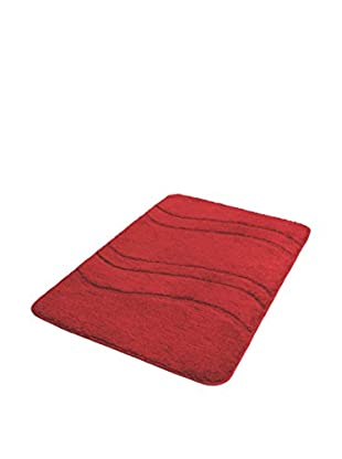 Bisk Alfombra de Baño One Rojo