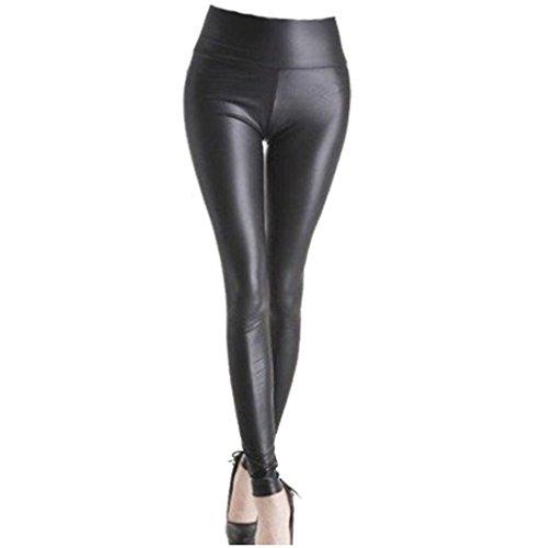 a-express-femmes-noir-taille-haute-brillant-look-mouille-mat-leggings-faux-cuir-pantalon-stretch-ple