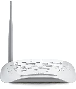 TP-LINK TD-W8151N Modem Router Wireless N150, ADSL2+, 1 Porta Fast Ethernet, Bianco