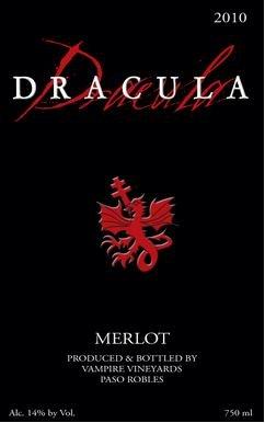 2010 Dracula Merlot 750Ml