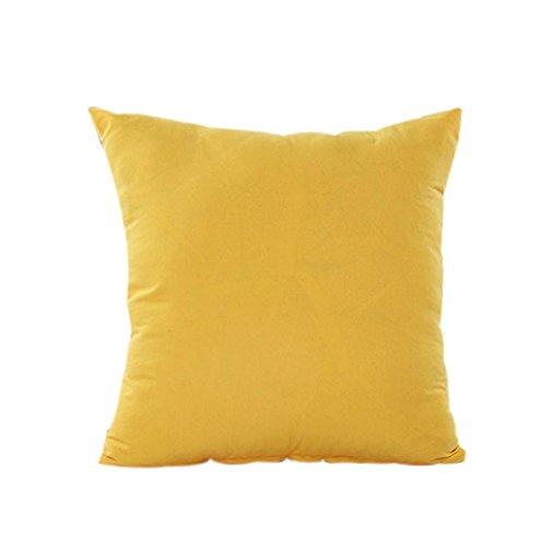 Rosennie Kissen Fall Baumwolle Leinen Kissen Abdeckung Streifen (Gelb)