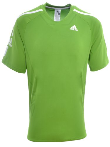 Adidas Mens Short Sleeve Powerweb Tennis Top
