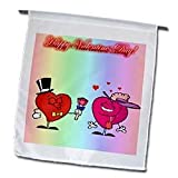 Edmond Hogge Jr Valentines Day - Happy Valentines Day Couple - Flags - 12 x 18 inch Garden Flag