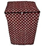 Dream Care Polka Maroon Printed Waterproof & Dustproof Washing Machine Cover For SAMSUNG Top Load Wa70h4000hp 7kg Washing Machine