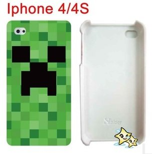 Minecraft Creeper Iphone44s Case by A-factory
