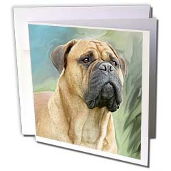 Dogs Mustiff Bullmastiff Greeting Cards 6 Greeting Cards with envelopes
