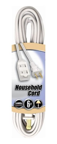 coleman cable 09411 16 2 spt 2 3 outlet cube tap extension cord with safety cover white 6 feet. Black Bedroom Furniture Sets. Home Design Ideas
