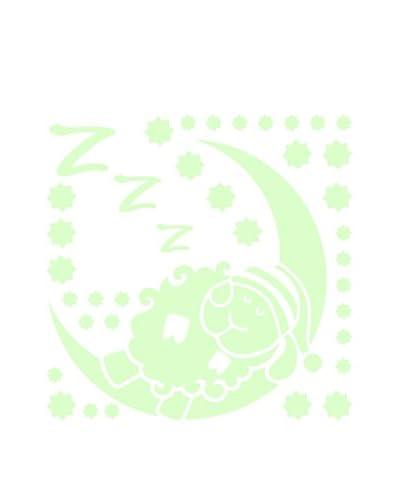 Ambiance Sticker Vinilo Decorativo Glow In The Dark Sleepy Sheep On The Moon