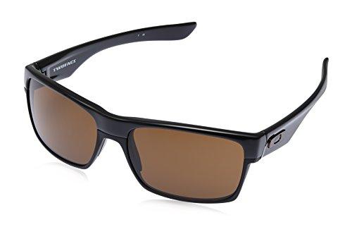 Oakley Rectangular Sunglasses (Polished Black) (0OO9189|3|60)