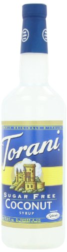 Torani Sugar Free Syrup, Coconut, 33.8 Ounce (Pack Of 3)