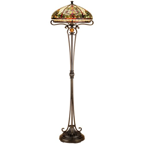 dale tiffany tf101116 boehme floor lamp antique bronze sand and art. Black Bedroom Furniture Sets. Home Design Ideas