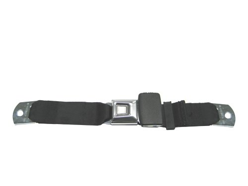 Lap Seat Belt, Metal Button Release, 60 Inch (Many Colors), Navy front-308169