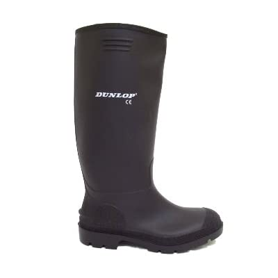 Mens Dunlop Black Wellies Wellington Welly Rain Boots