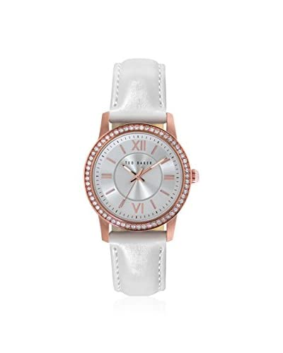 Ted Baker Women's TE2112 Vintage Glam White Leather Watch