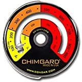 EXCITING EASY TO READ GRAPHICS. ChimGard® Energy Meter (3-4) Woodstove Thermometer. Durable genuine porcelain...