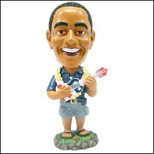 Amazon.com : Barack Obama Playing the Ukulele Bobble Head Doll 6