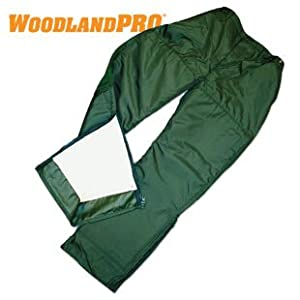 Woodlandpro Green Logger Chainsaw Safety Pants : Amazon.com ...