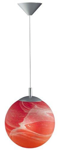 Wofi 6130.01.19.0250 - Lampadario a sfera Derby Uno 2, colore: rosso