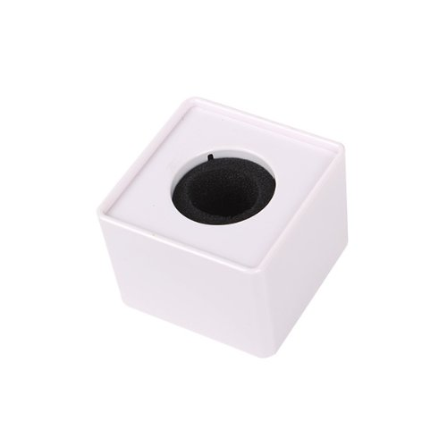 """Generic Portable Mic Microphone Interview Square Cube Logo Flag Station White 1.54"""" Hole"""