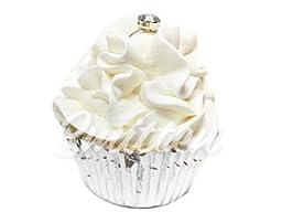Wedding Cake Large Cupcake Bath Bomb by Feeling Smitten Bath Bakery