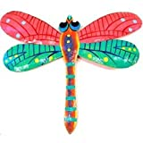 Pink Metal Dragonfly - 11 Inches - Haiti