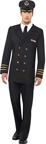 Smiffys-38818L-Navy-Officer-Kostm-mit-Jacke-Hose-Mock-Shirt-und-Hut
