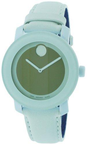 Movado Bold 3600051 - Reloj unisex, correa de cuero color blanco