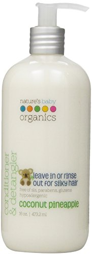 Natures Baby Organics Conditioner And Detangler, Coconut Pineapple, 16 Fluid Ounce