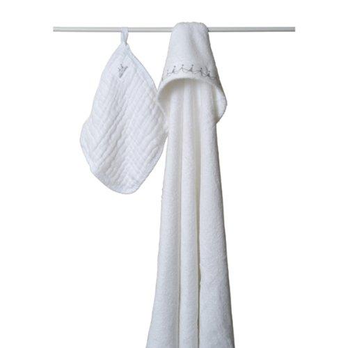 Imagen de Adén y Anais - Toalla con capucha y Washcloth - Baby Agua