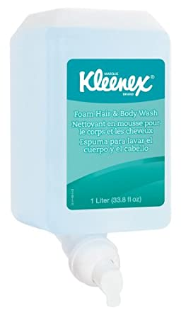 Kimberly-Clark Kleenex 91553 Floral Fragrance Foam Hair and Body Wash, 1000mL, Light Blue (Case of 6)