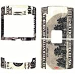 $100 Money Design Decal Sticker Protector Cover for Blackberry 8800