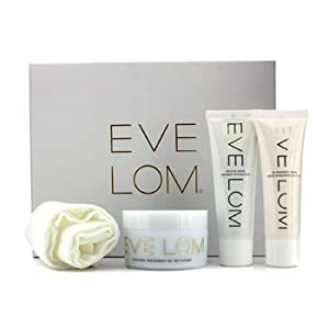 Eve Lom Luxury Collection: Cleanser 100Ml + Tlc Radiance Cream 50Ml + Rescue Mask 50Ml + Muslin Cloth - 4Pcs