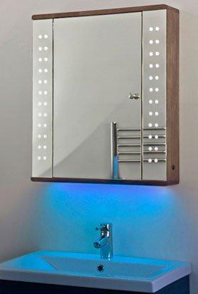 Ambient Solid Oak Bathroom Cabinet With Demister, Sensor & Shaver Socket K3Db