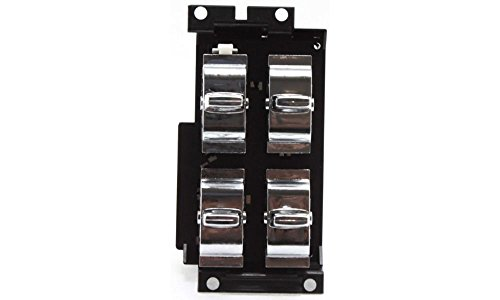 Evan-Fischer EVA16872016793 Window Switch Driver Side LH Plastic Chrome 4-button Post type 4-prong and 6-prong male terminals (93 Chevy Caprice Window Switches compare prices)