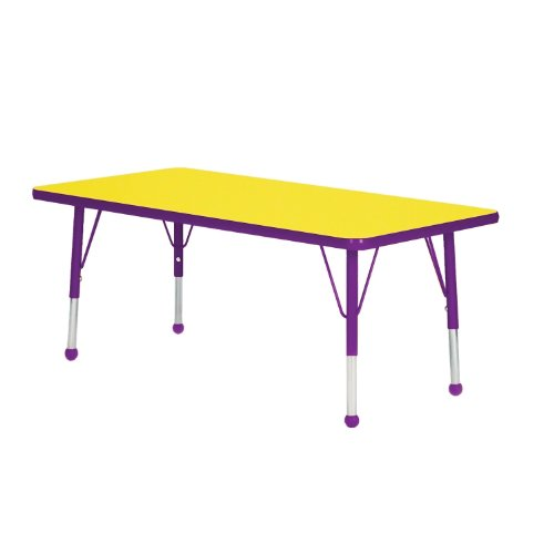 Ptm Images 12 In X 12 In The Color Purple Laminated: 36 X 72 Rectangle Table Top Color Yellow Edge Color Purple