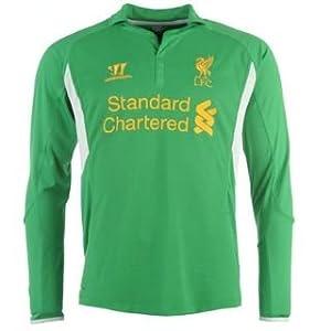 Warrior Liverpool Home Shirt 2012 2013 Goalkeeper Fern 10-11 Lb