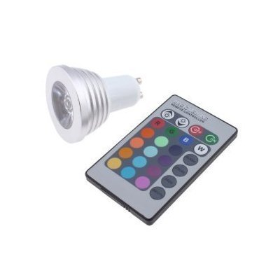 Ebestrade 3W Gu10 Rgb Led Light Bulb With Remote Control 16 Changeable Colors Multi-Color Energy Saving Rgb Led Lamp
