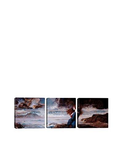 William Waterhouse Mirandathe Tempest (Panoramic) 3-Piece Canvas Print