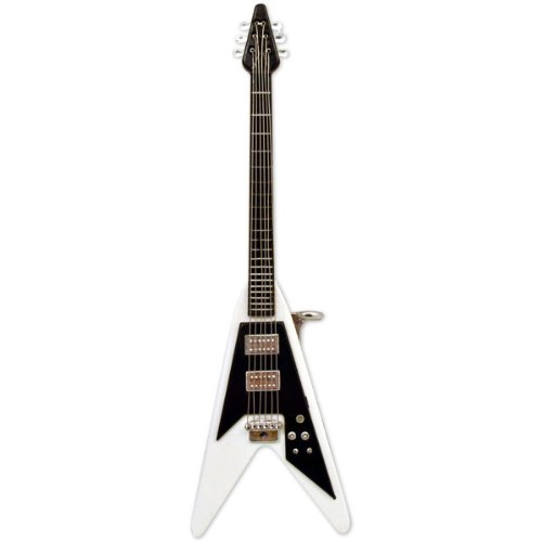 Flying V Electric Guitar Lighter (White) (Electric Flying V Guitar compare prices)