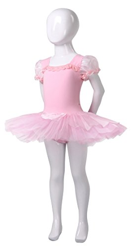 AvaCostume Girl's Ballet Tutu Costume Puff Sleeve Dance Dress