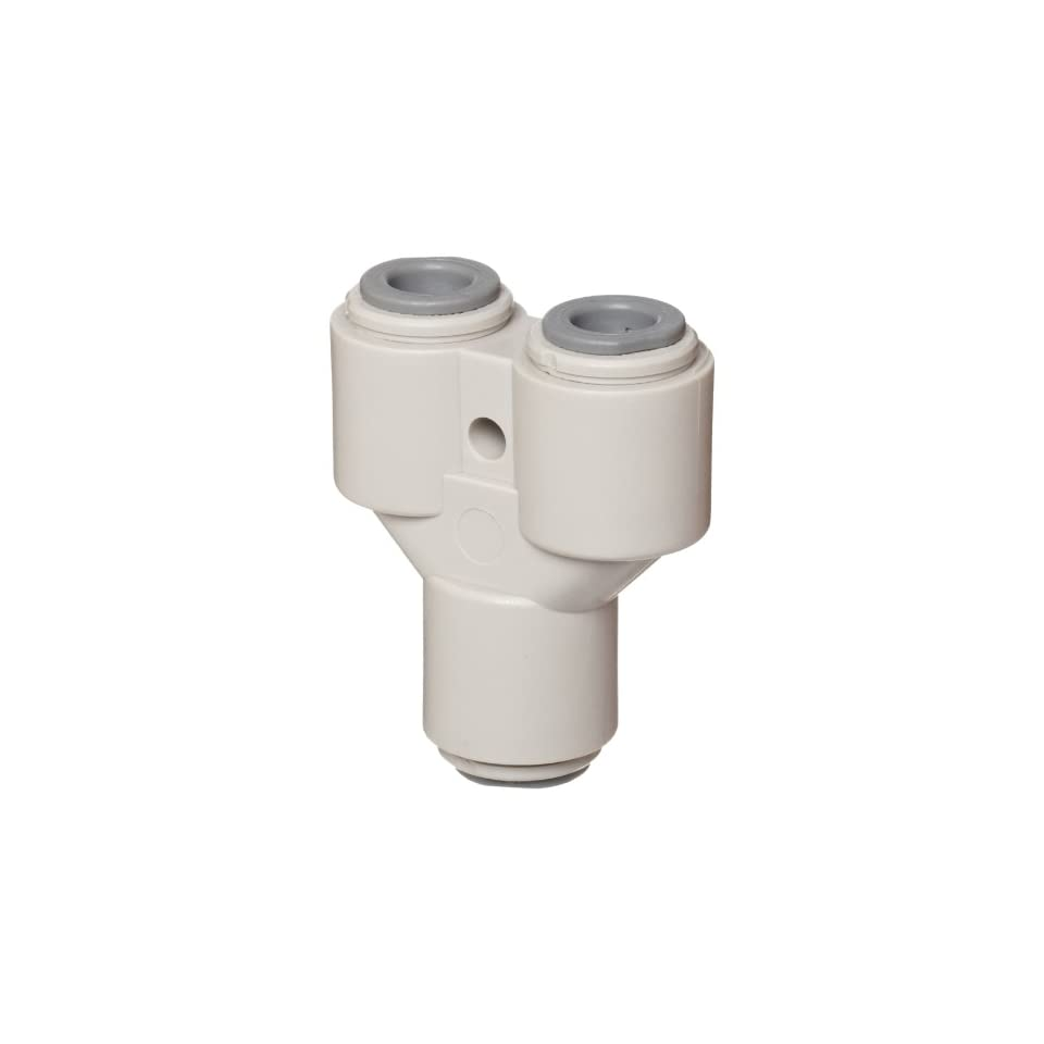 John Guest Acetal Copolymer Tube Fitting Pack of 10 1//2 x 3//8 Tube OD Reducing Straight Union