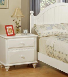 Cheap night stand in white finish by poundex nightzstandz for Night stand cost