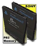 (2 Card Package DEAL) Sony Playstation 8MB Memory Cards