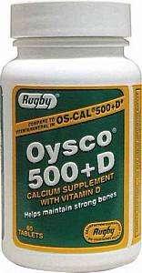 Oysco 500+D Tablets, 500Mg-200U, 60Ct