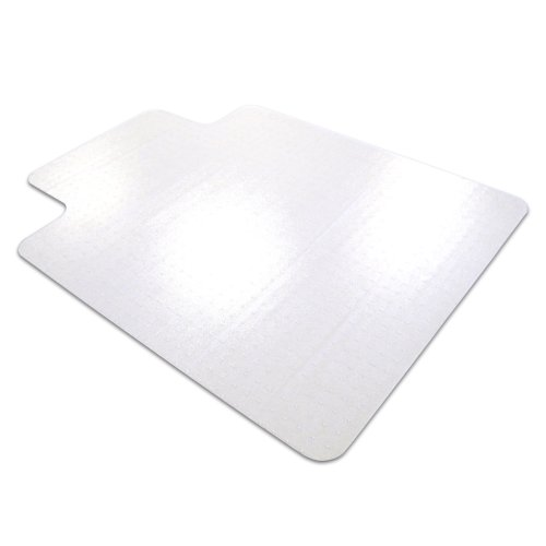 Cleartex AdvantageMat PVC Chair Mat for Low Pile Carpets - up to 1/4 Inch Thick, Clear, 48 x 36 Inches (119225LV)