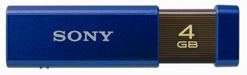 SONY ノックスライド式USBメモリー ポケットビット 4GB ハイスペック ブルー USM4GLX LA