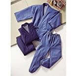 デニム 作務衣 2枚組 Lサイズ