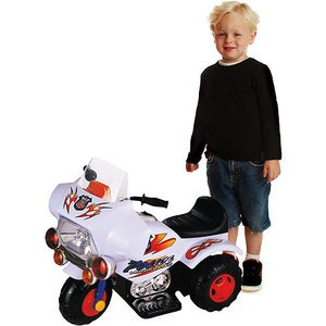 Kids Ride On Police Motorcycle - My Police Motorbike Ride-On, White (18 Months To 3 Years Of Age)